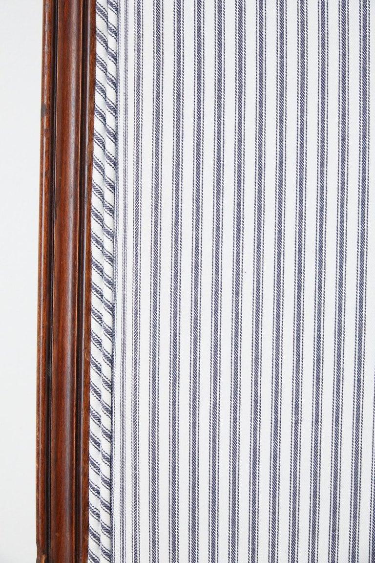 19th Century Louis XV Style Walnut Three-Panel Folding Screen For Sale 2