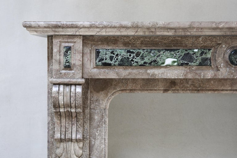 French 19th Century, Louis XVI Antique Marble Fireplace For Sale