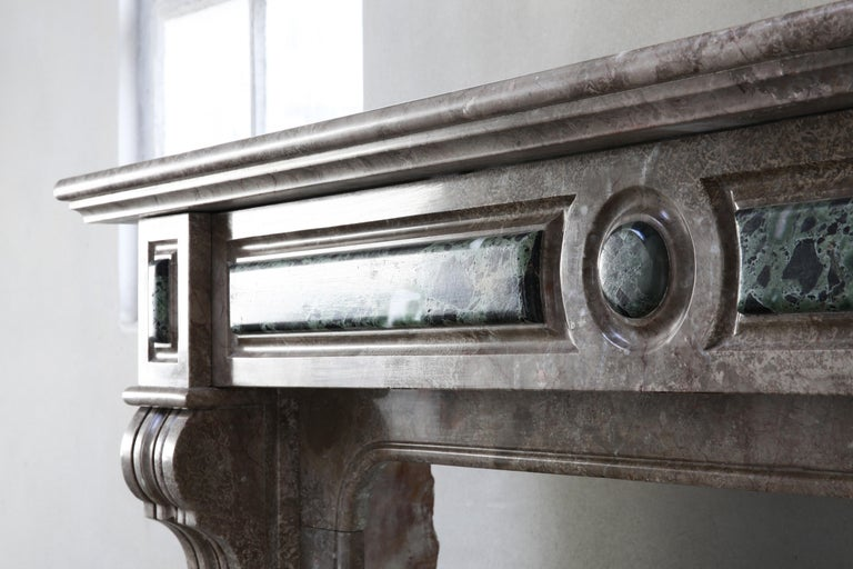 19th Century, Louis XVI Antique Marble Fireplace For Sale 1