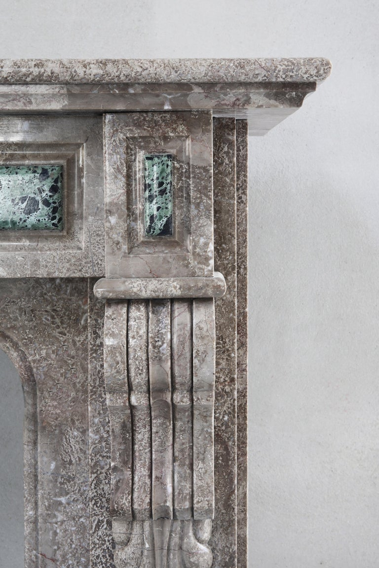 19th Century, Louis XVI Antique Marble Fireplace For Sale 2