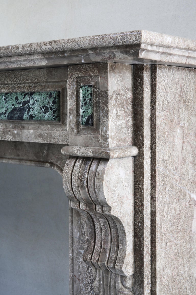 19th Century, Louis XVI Antique Marble Fireplace For Sale 3