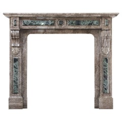19th Century, Louis XVI Antique Marble Fireplace