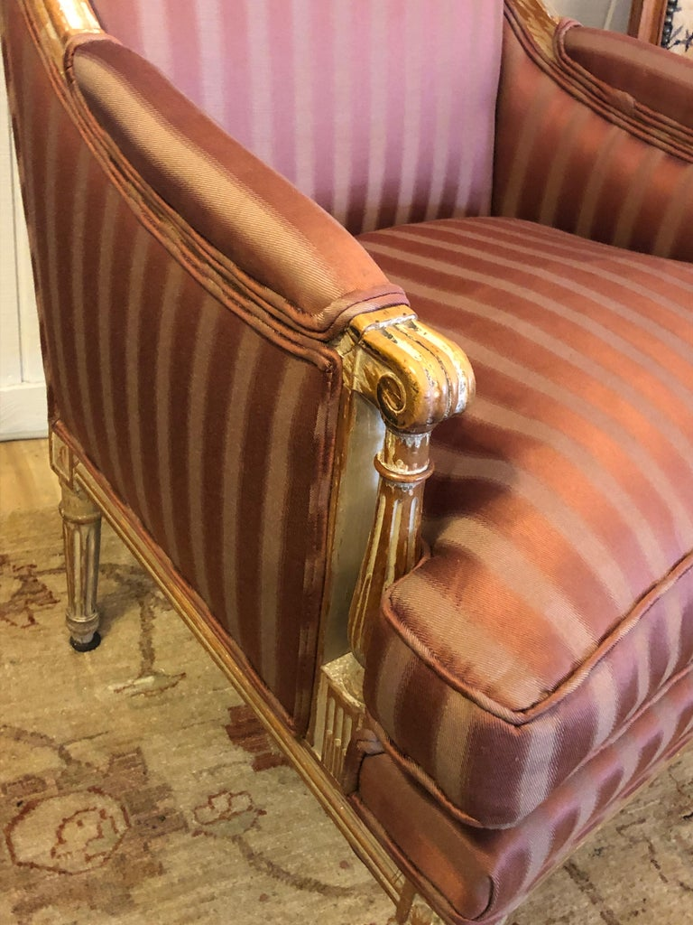 19th Century Louis XVI Bergère Club Chair with Rose Tarlow Upholstery 7