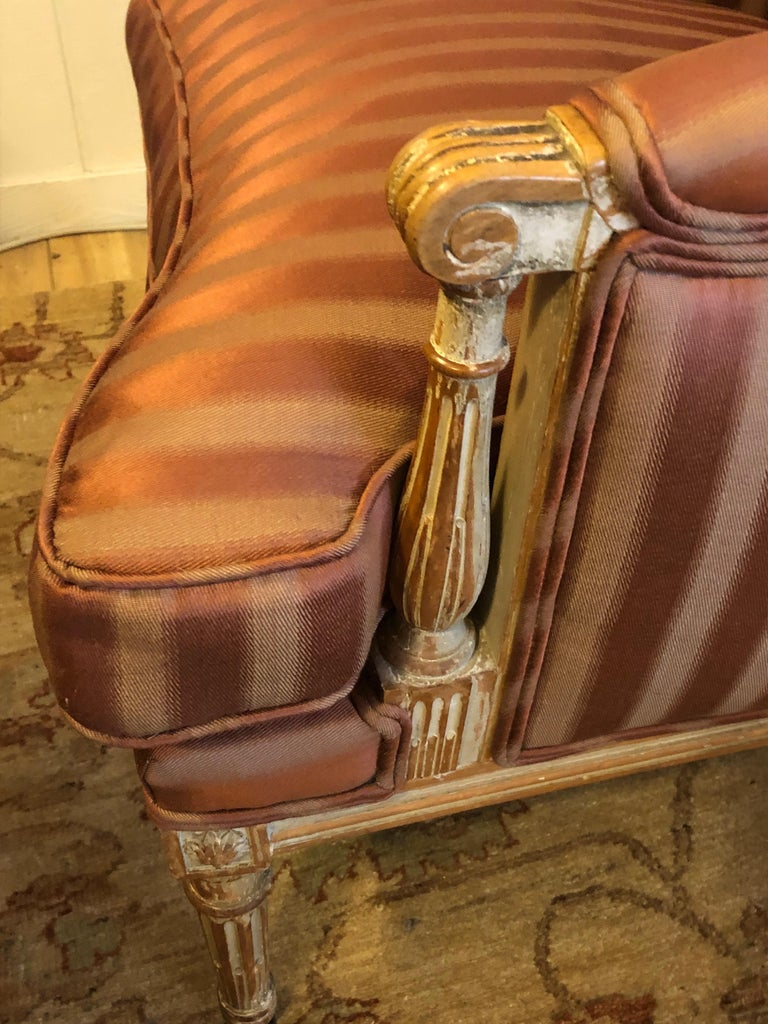 19th Century Louis XVI Bergère Club Chair with Rose Tarlow Upholstery In Excellent Condition In Hopewell, NJ