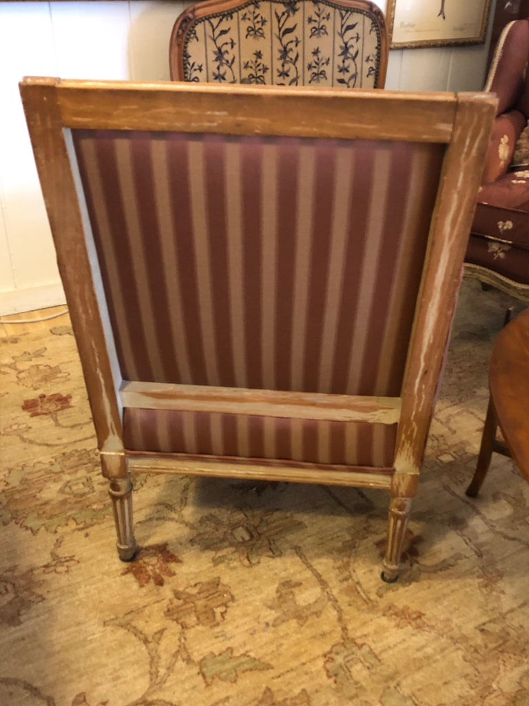 19th Century Louis XVI Bergère Club Chair with Rose Tarlow Upholstery 4