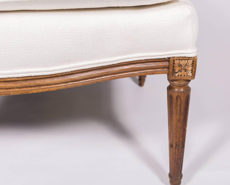 19c Louis XVI Upholstered Chaise For Sale 1