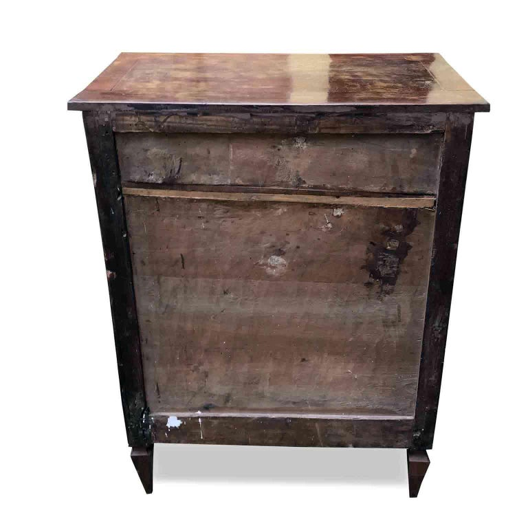 19th Century Louis XVI Italian Small Chest of Drawers or Bedside Table In Good Condition For Sale In Milan, IT