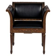 19th Century Louis XVI Leather Chair