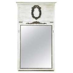 19th Century Louis XVI Neoclassical Painted Trumeau Mirror