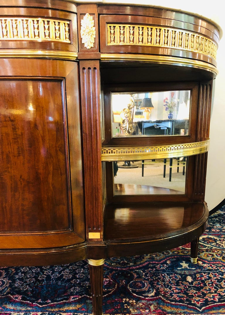 19th Century Louis XVI Sideboard, Cabinet or Console by Maison Forest, Mahogany For Sale 5