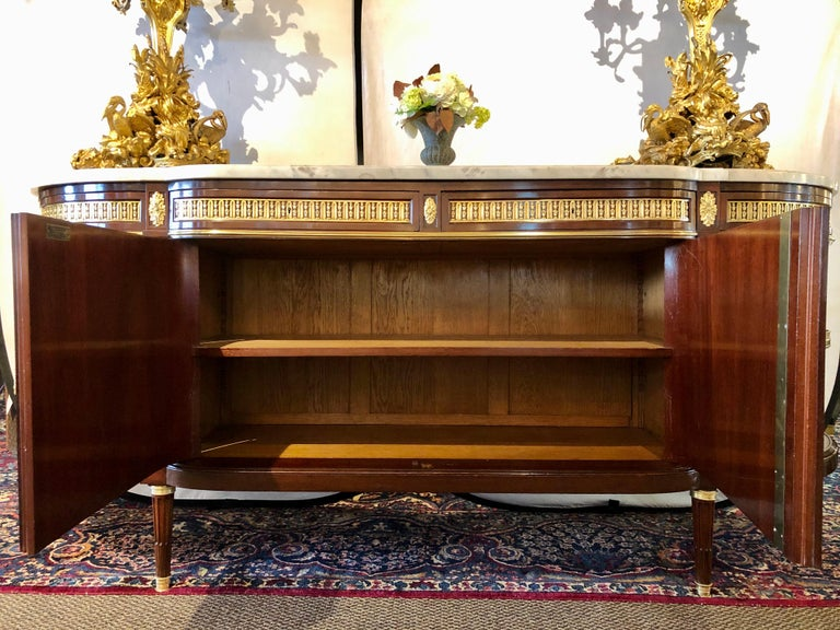 19th Century Louis XVI Sideboard, Cabinet or Console by Maison Forest, Mahogany For Sale 9