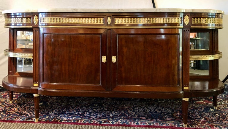 French 19th Century Louis XVI Sideboard, Cabinet or Console by Maison Forest, Mahogany For Sale