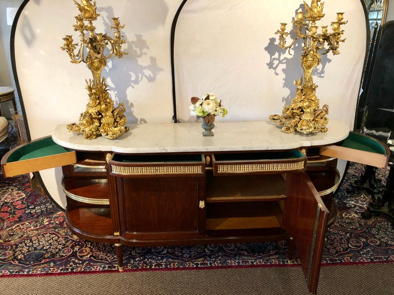 Early 20th Century 19th Century Louis XVI Sideboard, Cabinet or Console by Maison Forest, Mahogany For Sale