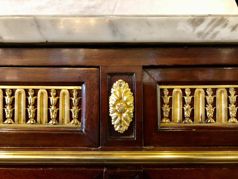 19th Century Louis XVI Sideboard, Cabinet or Console by Maison Forest, Mahogany For Sale 2