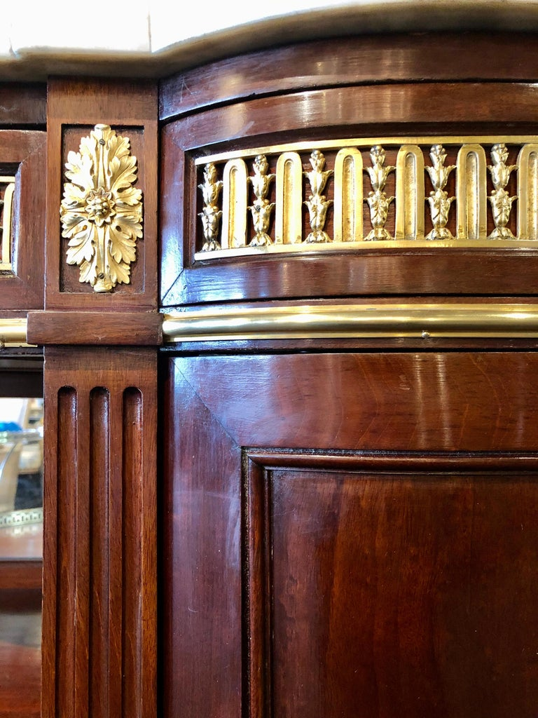 19th Century Louis XVI Sideboard, Cabinet or Console by Maison Forest, Mahogany For Sale 3