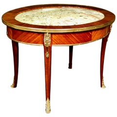 19th Century Louis XVI Style Coffee Table in Tulipwood