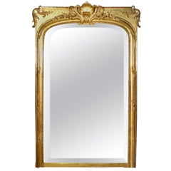 19th Century Louis XVI Style Giltwood Mirror
