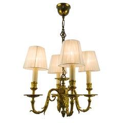 19th Century Louis XVI Style Bronze Four-Light Chandelier