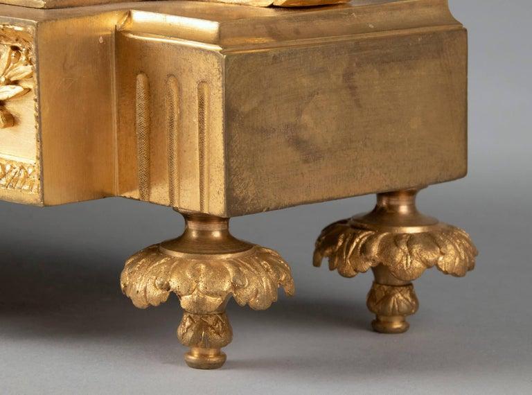 19th Century Louis XVI Style Bronze Ormolu Mantel Clock For Sale 9