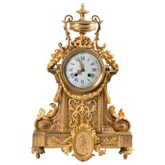19th Century Louis XVI Style Bronze Ormolu Mantel Clock