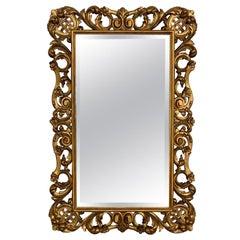 19th Century Louis XVI Style Carved Giltwood Rectangular Mirror