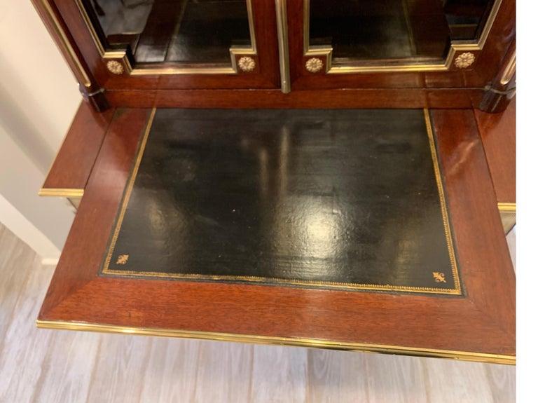 19th Century Louis XVI Style Diminutive Two Part Bookcase on Desk/Secretary For Sale 7