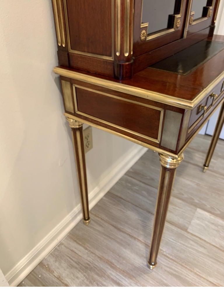19th Century Louis XVI Style Diminutive Two Part Bookcase on Desk/Secretary For Sale 8