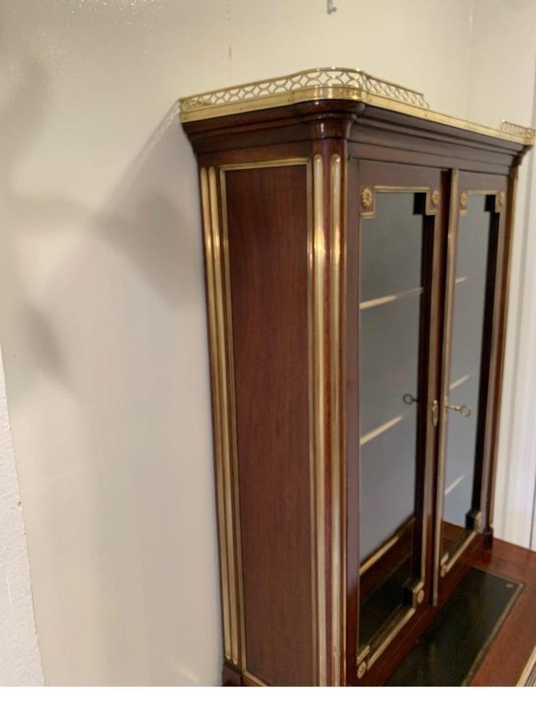 19th Century Louis XVI Style Diminutive Two Part Bookcase on Desk/Secretary For Sale 9