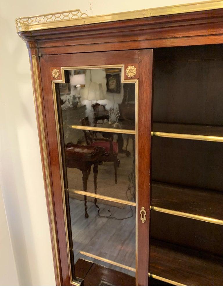 19th Century Louis XVI Style Diminutive Two Part Bookcase on Desk/Secretary For Sale 12