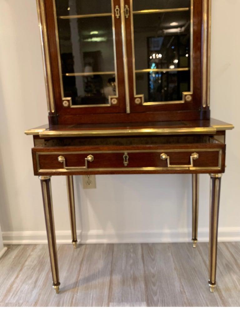 19th Century Louis XVI Style Diminutive Two Part Bookcase on Desk/Secretary For Sale 2