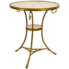 19th Century, Louis XVI Style French Gilt Bronze Tripod Coffee Table or Guéridon