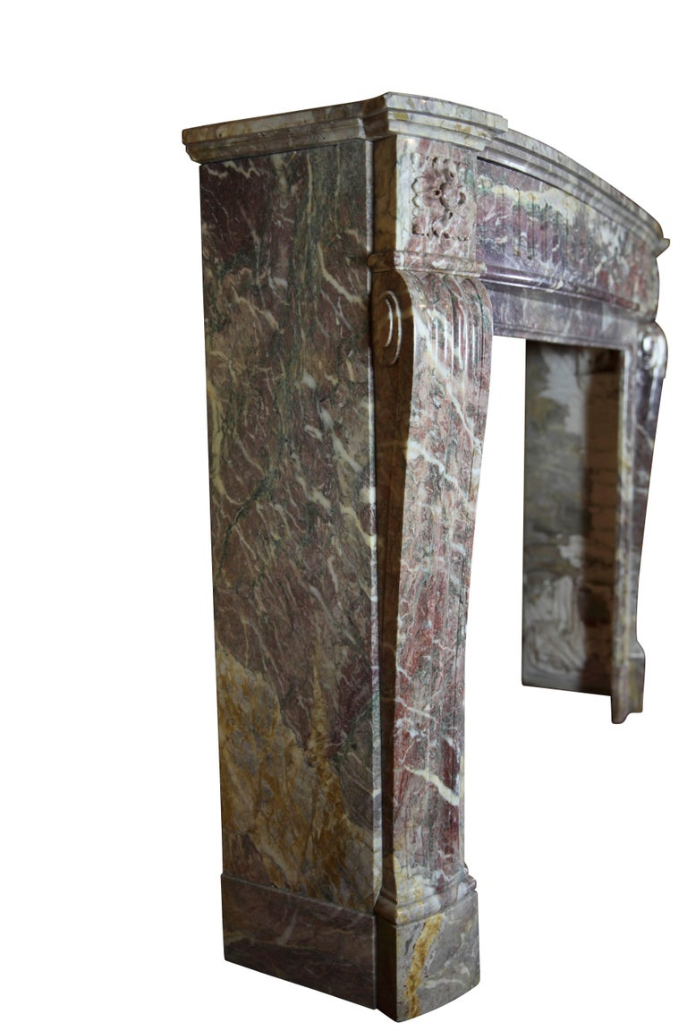 19th Century Louis XVI Style French Marble Antique Fireplace Surround For Sale 5