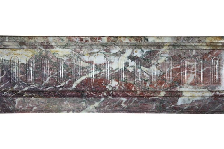 Belgian 19th Century Louis XVI Style French Marble Antique Fireplace Surround For Sale