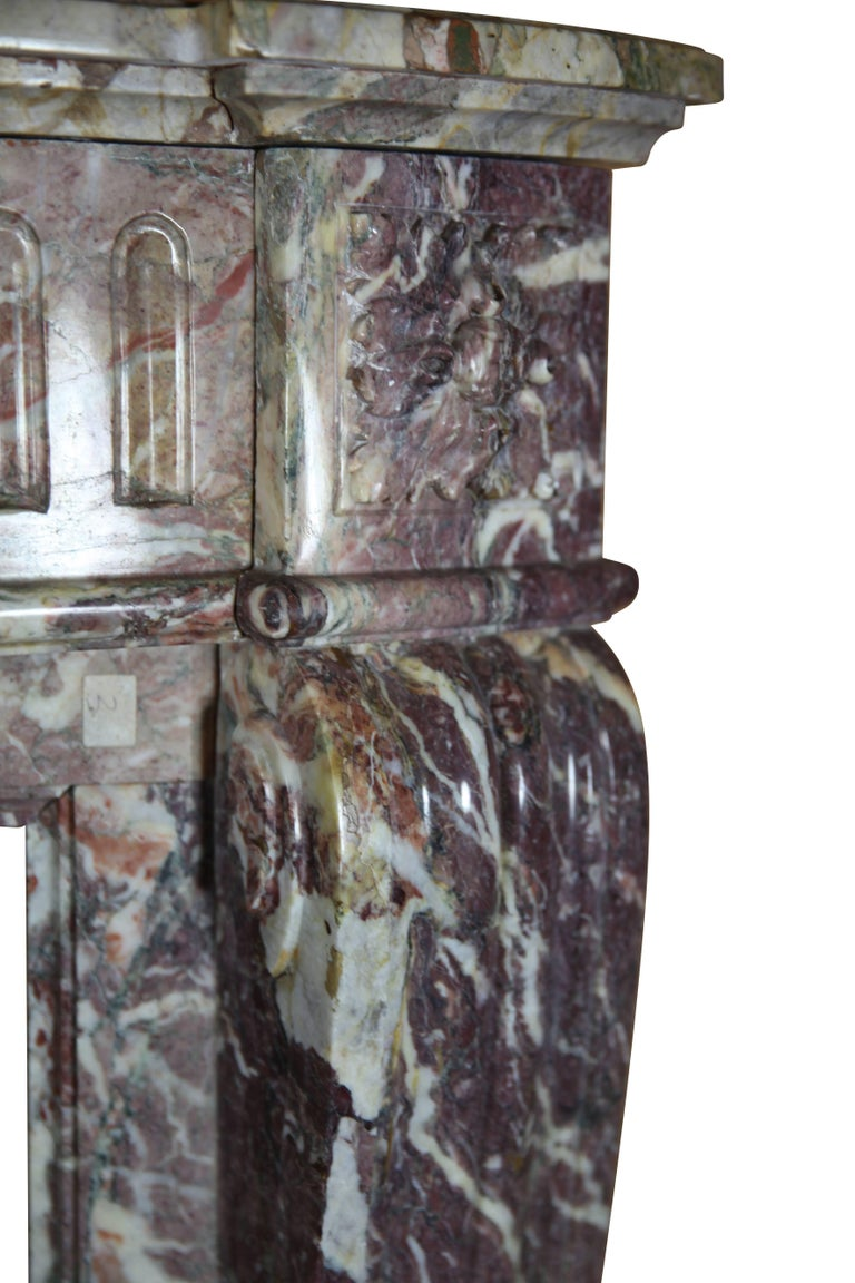 19th Century Louis XVI Style French Marble Antique Fireplace Surround For Sale 1
