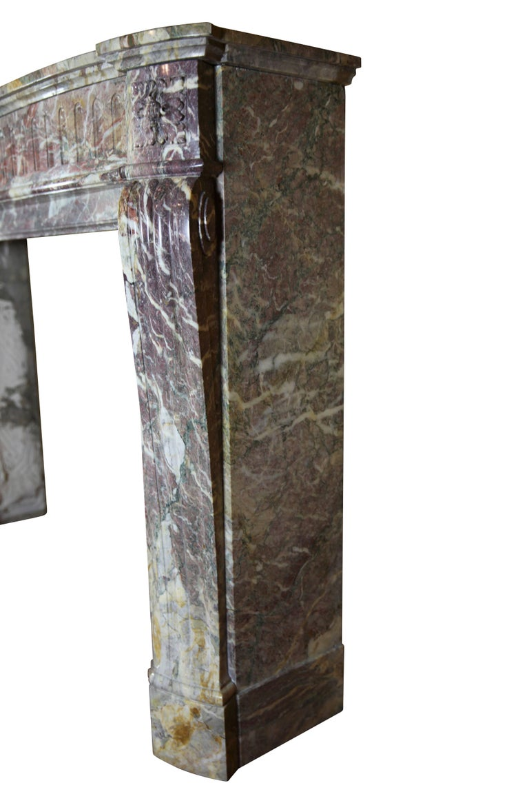 19th Century Louis XVI Style French Marble Antique Fireplace Surround For Sale 4