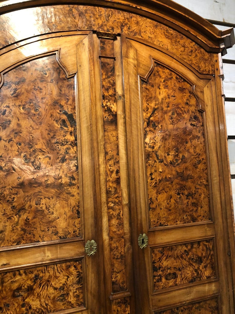 19th Century Louis XVI Style French Provincial Burled Ash Armoire In Good Condition For Sale In Middleburg, VA