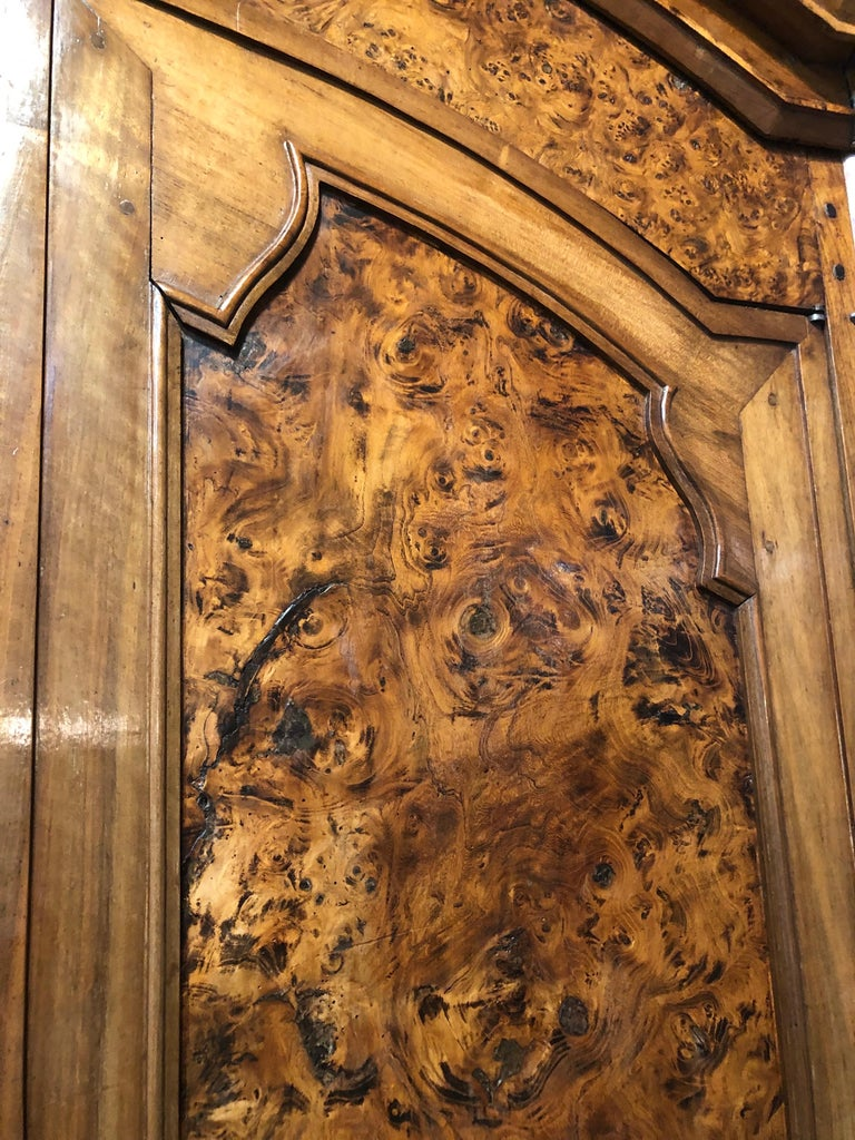 19th Century Louis XVI Style French Provincial Burled Ash Armoire For Sale 5