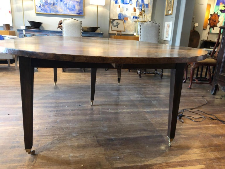 19th Century Louis XVI Style French Provincial Extending Walnut Dining Table For Sale 2