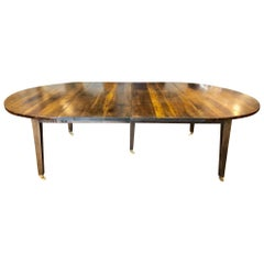 19th Century Louis XVI Style French Provincial Extending Walnut Dining Table