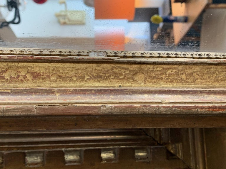 French 19th Century Louis XVI Style Gitwood Mirror For Sale