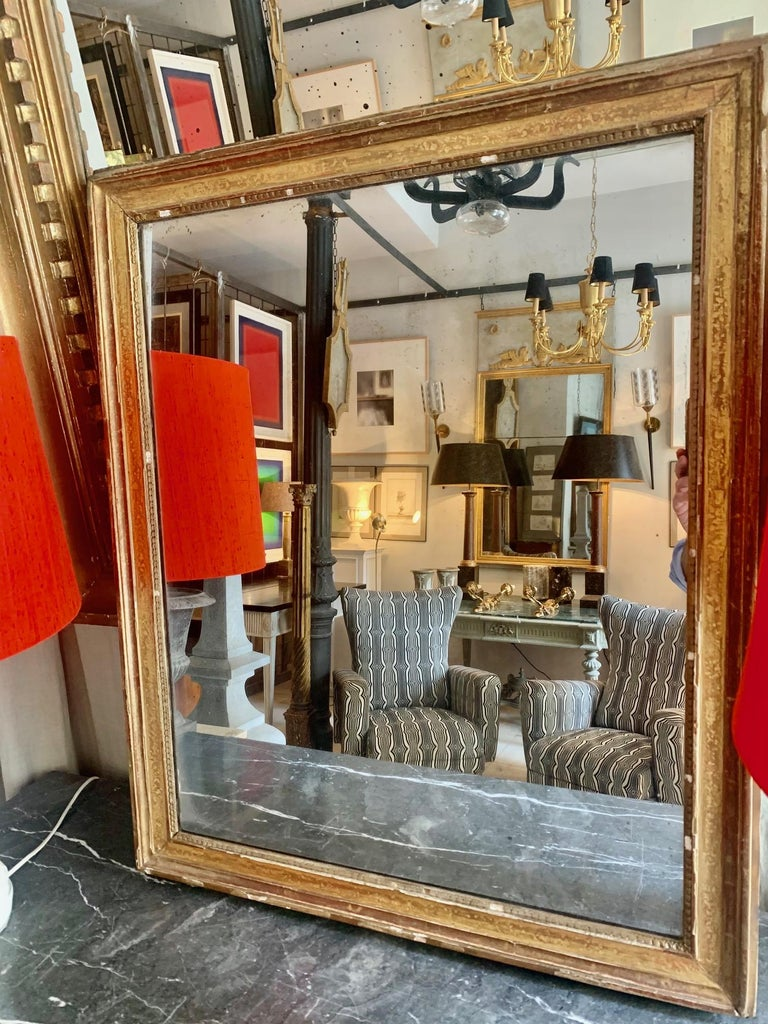 19th Century Louis XVI Style Gitwood Mirror In Good Condition For Sale In Madrid, ES