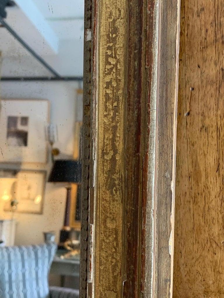 Glass 19th Century Louis XVI Style Gitwood Mirror For Sale