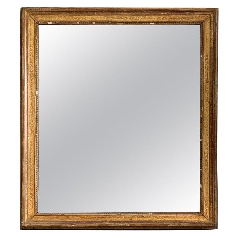 19th Century Louis XVI Style Gitwood Mirror For Sale
