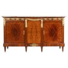 19th Century Louis XVI Style Mahogany Sideboard Dresser