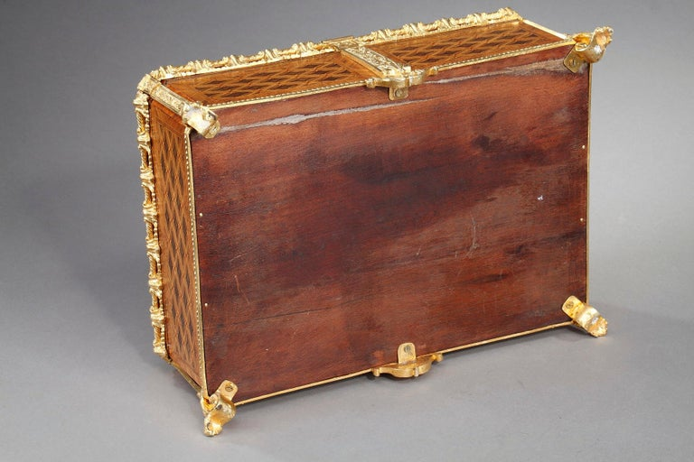 19th Century Louis XVI-Style Marquetry Jewelry Box For Sale 8