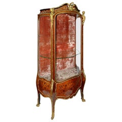 19th Century Louis XVI Style Vitrine in the Style of Linke