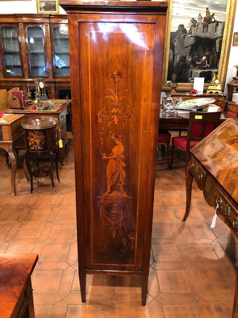 19th Century Louis XVI Walnut Inlaid Italian Secretaire, 1800s For Sale 6