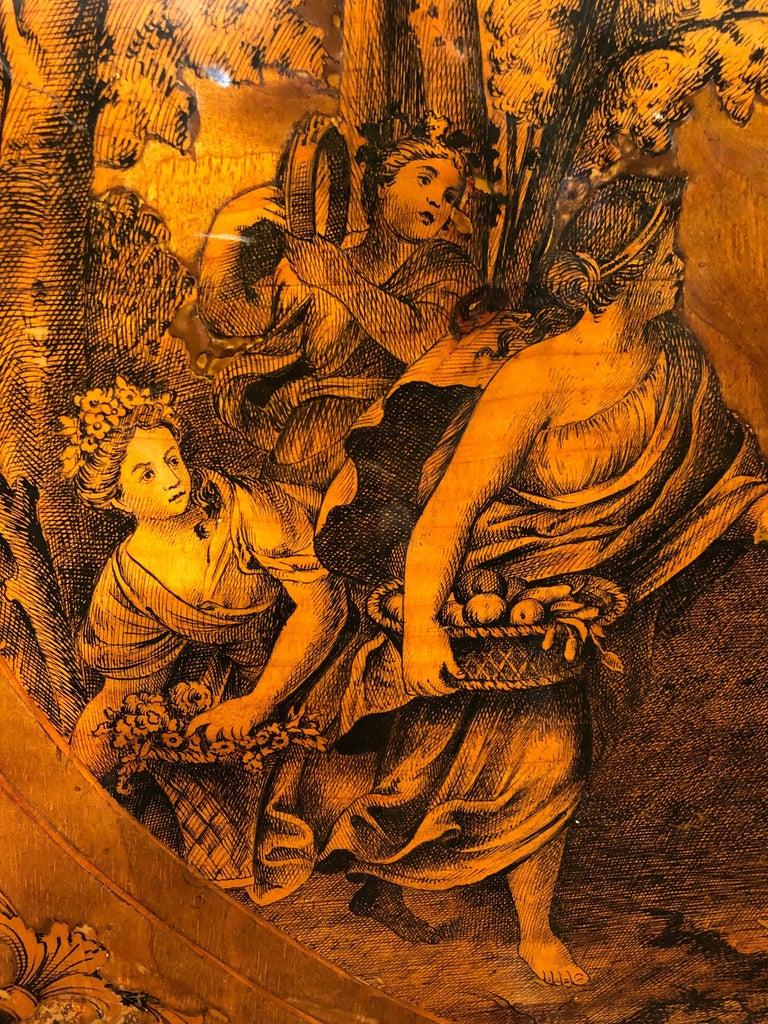 19th Century Louis XVI Walnut Inlaid Italian Secretaire, 1800s For Sale 1
