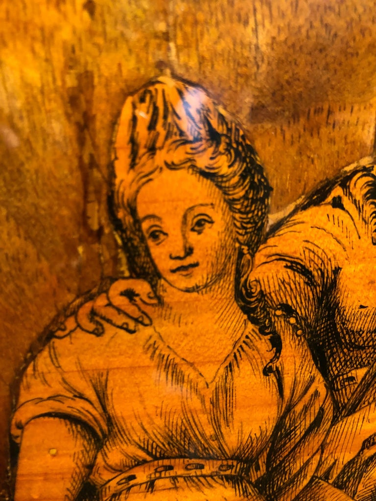 19th Century Louis XVI Walnut Inlaid Italian Secretaire, 1800s For Sale 2