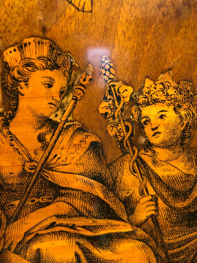 19th Century Louis XVI Walnut Inlaid Italian Secretaire, 1800s For Sale 3